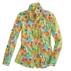 J. Crew Liberty of London Tresco Floral Shirt Top